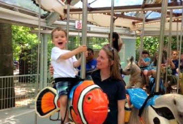 "And a clown fish--little kids will love riding ""Nemo"""