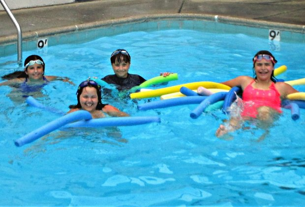 <i>Campers swim, laugh, and learn at Garden School Summer Camp.</i>
