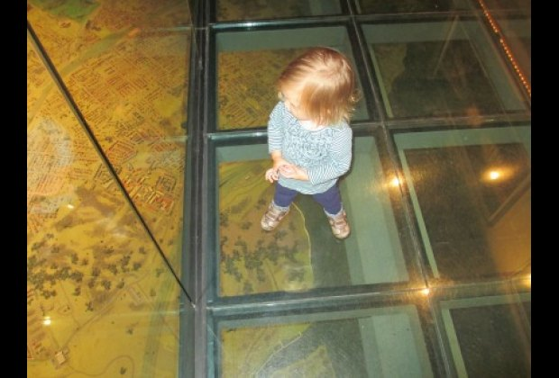 You can look down on the Panorama through the new see-through walkway