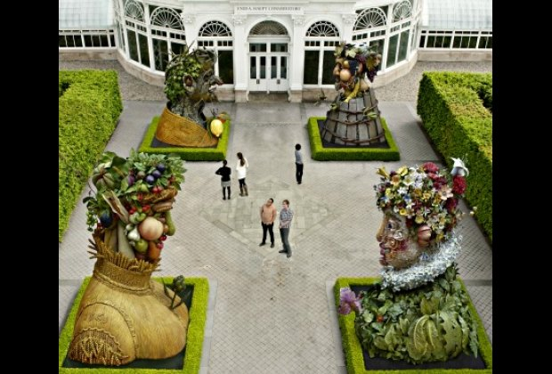 Renderings of the Four Seasons at the New York Botanical Garden