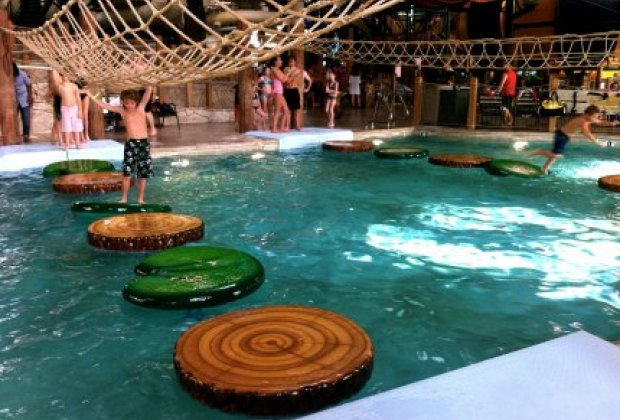 The amazing indoor water park at Great Wolf Lodges