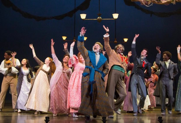 """Ebeneezer Scrooge has a change of heart in """"A Christmas Carol."""" Photo courtesy of McCarter Theatre."""