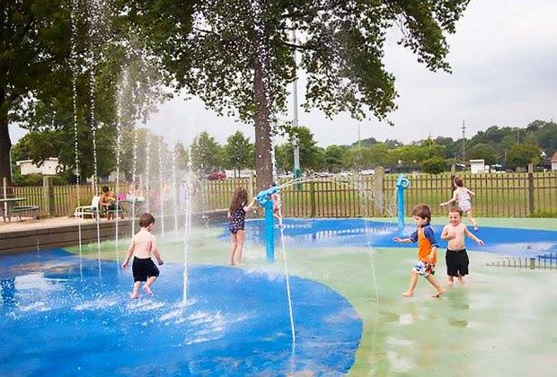 Splash pad at Harbor Island Park