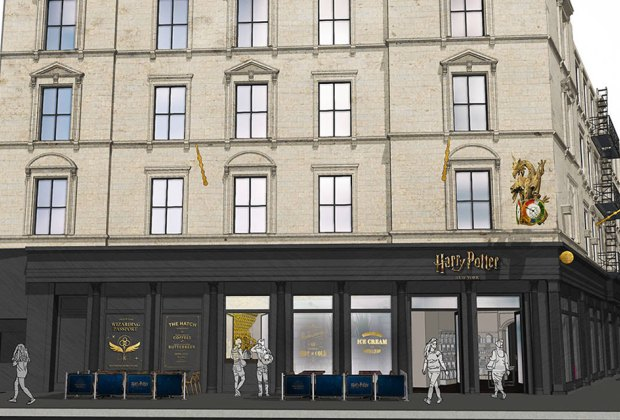 Get ready muggles: The largest collection of Wizarding World products in the world is coming to Flatiron this summer.  Rendering courtesy of Warner Bros. Wizarding World