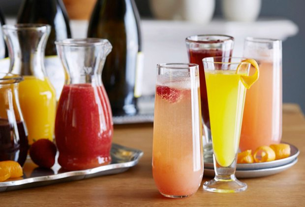 juices and drinks on the bar