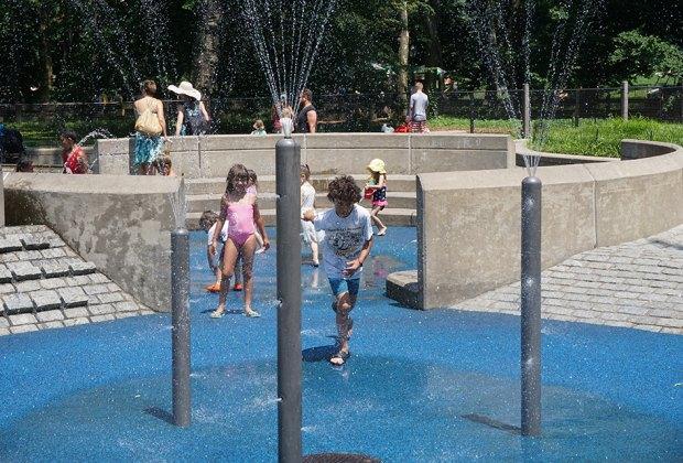 Heckscher Playground's splash pad