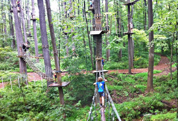 Adventure Park is heaven for kids at the  Heritage Museum & Gardens. Photo courtesy of HM&G