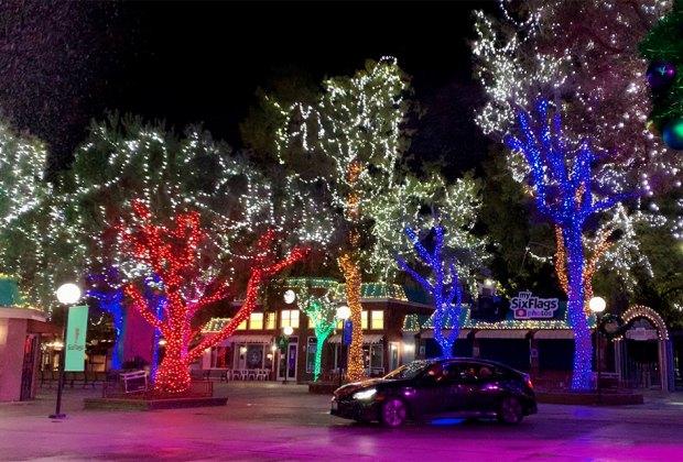 Six Flags Debuts Holiday Lights Drive-Thru for Christmas Season