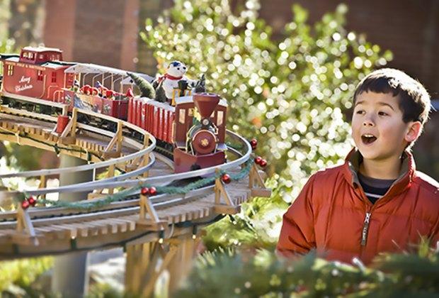 Thrill to the Holiday Train Show at the Atlanta Botanical Garden. Photo courtesy of the garden