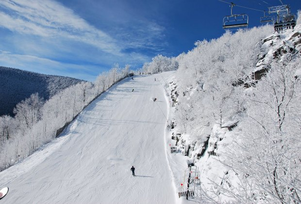 skiing Hunter Mountain