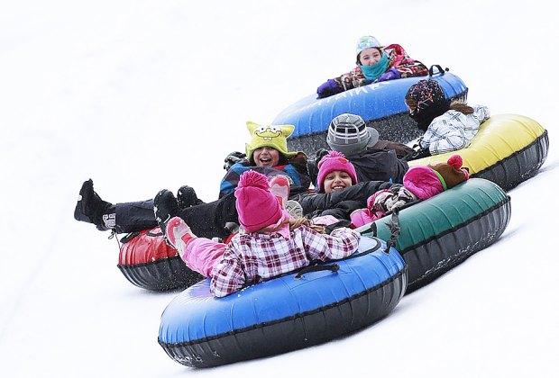 Hunter Mountain has 20 tubing lanes, plus a mini park for little kids. Photo courtesy of Hunter Mountain Resort