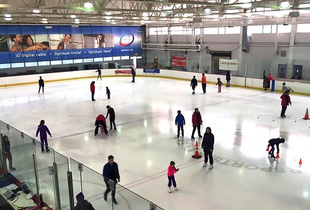 Aviator Sports Rink has plenty of ice to glide on