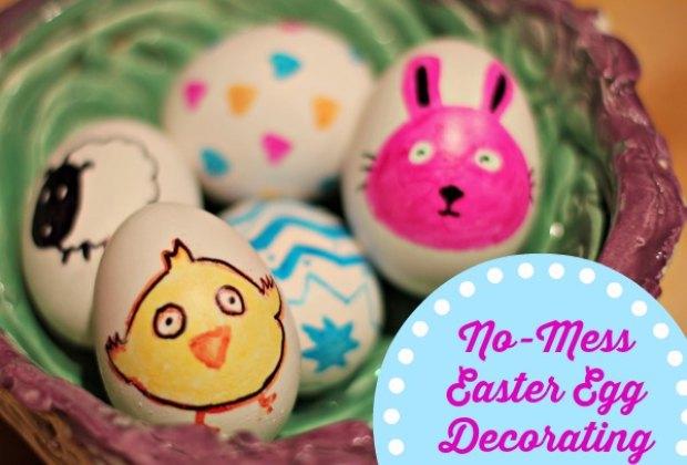 No Mess Easter Egg Decorating: Sharpie Easter Egg Designs