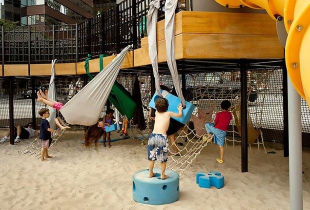 Imagination Playground sandbox in Lower Manhattan