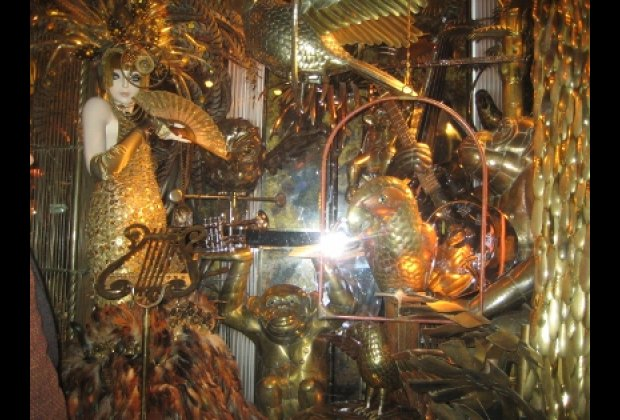 Copper animals at Bergdorf Goodman