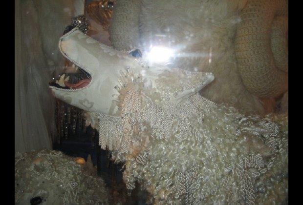 An arctic canine at Bergdorf Goodman
