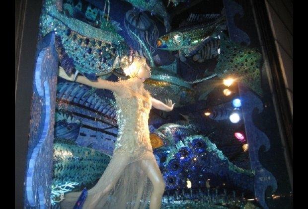 An underwater world at Bergdorf Goodman