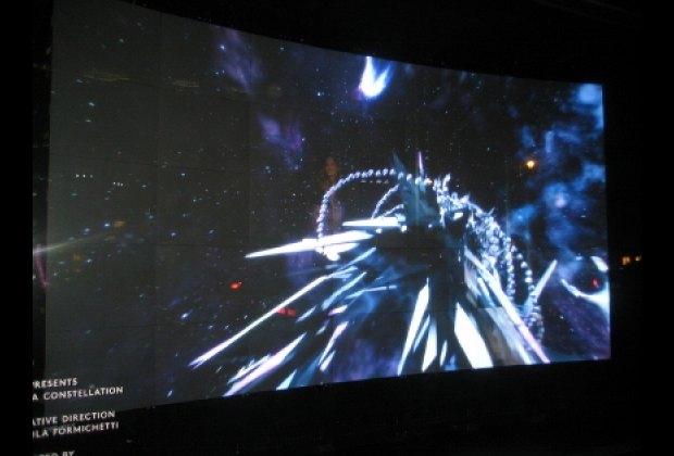 Lady Gaga video installation at Barneys