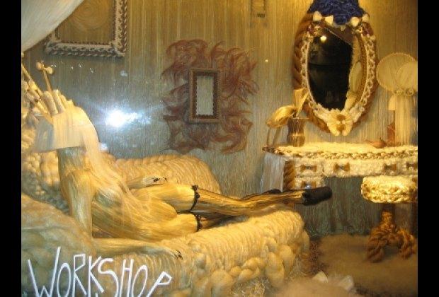 Lady Gaga's hair boudior at Barneys