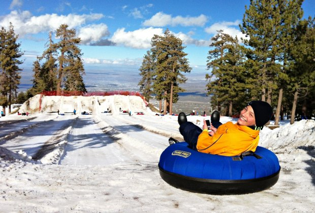 Snow Sledding or Tubing Spots near Los Angeles for SoCal