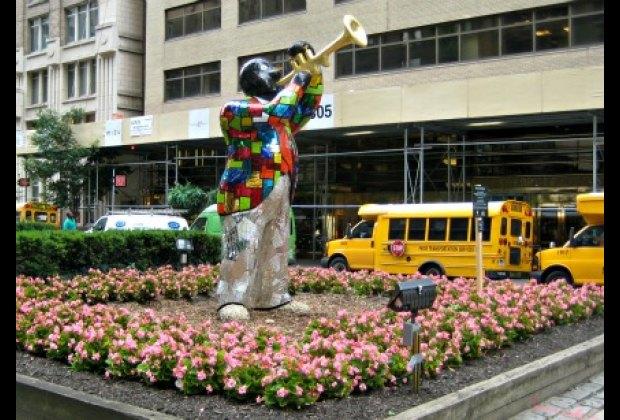 Niki de Saint Phalle's Louis Armstrong statue on Park Avenue