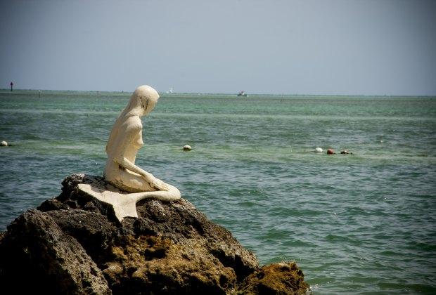 A mermaid taking in the Atlantic.