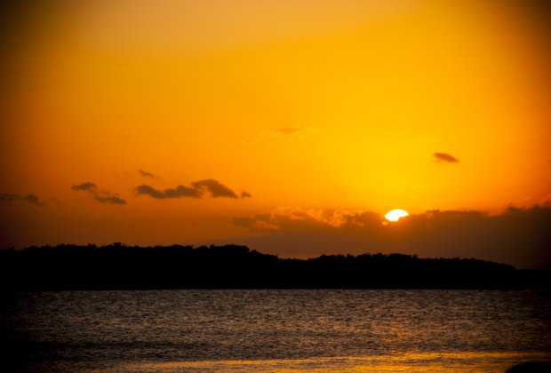 A perfect sunset on the bayside at Lorelai's Cabana Bar.
