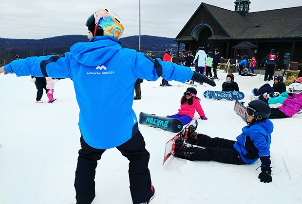 Take a snowboarding lesson at Mountain Creek. Photo by Anna Fader