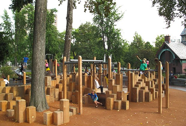 East 110th Street's shady playground