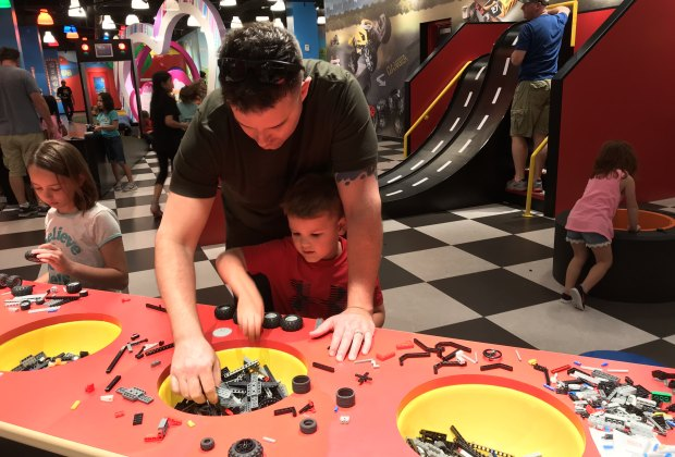 Building LEGO cars is just one fun part of exploring LEGOLAND Discovery Center in San Antonio