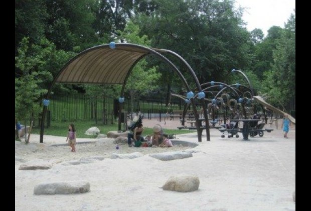 Romp in the beautifully renovated Indian Hill Road Playground