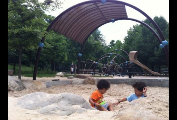 Inwood Hill Park boasts three playgrounds, but Indian Road Playground<br /> is definitely most popular