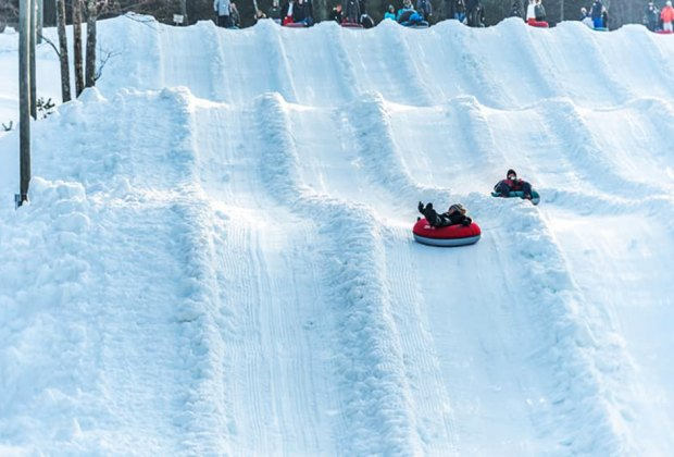 Jack Frost offers multiple snow tubing lanes Best Snow Tubing Spots Near New York City