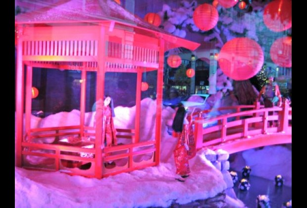 A Japanese garden at Lord & Taylor