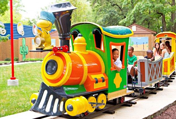 It's all aboard at Kings Dominion, an amusement park near Richmond, Virginia.