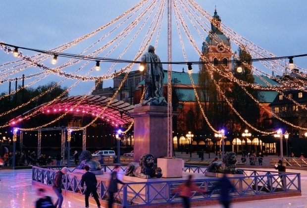 Kids will enjoy skating or walking in Kungsträdgården Park on a family visit to Stockholm. Photo courtesy of Visit Stockholm