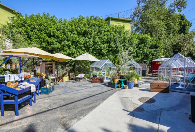 LA Restaurants with Outdoor Seating for Kids: Eat in a greenhouse at Lady Byrd