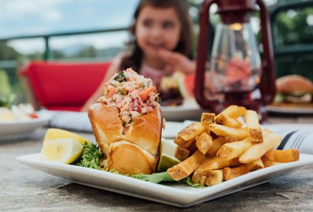 The Dancing Bear Cafe Restaurant Lobster roll and friesThings to Do in Lake Placid on a Winter Vacation Status message