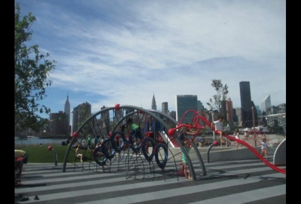 The state-of-the art playground has amazing equipment and awesome views