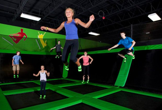 Come in to Launch Trampoline Park to see how high you can jump!