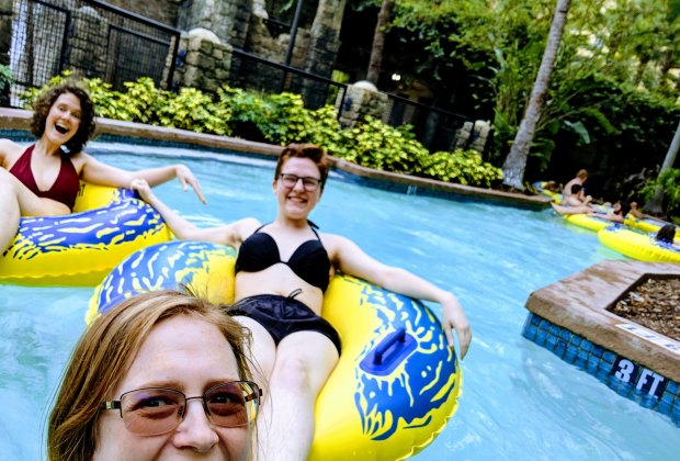 Hit the lazy river, a water slide, or one of the many pools!