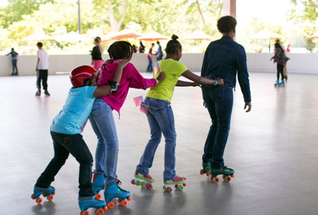 Cruise on the roller rink at Prospect Park's LeFrak Center