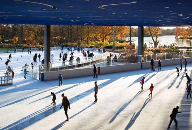 Lace up at LeFrak! The Lefrak Center at Lakeside features both a covered and an open-air ice rink. Photo courtesy of Prospect Park