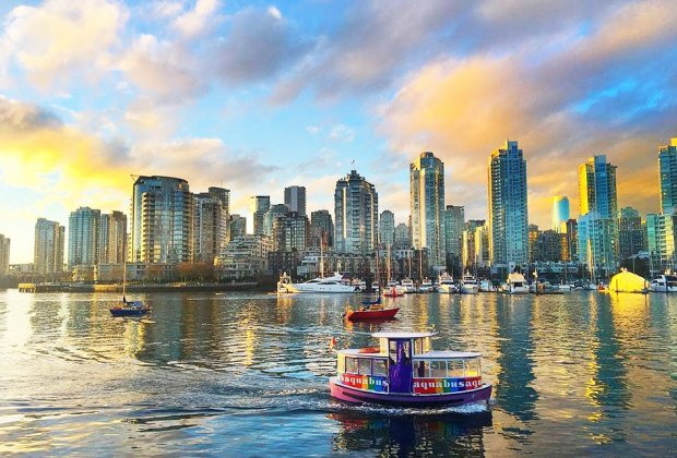 Ride the Aquabus around the coastal Canadian city's harbor. Photo courtesy Aquabus Vancouver