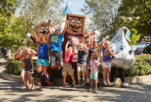 Rides, chocolate, and the countryside make a great mix in Hershey. Photo courtesy of Hersheypark
