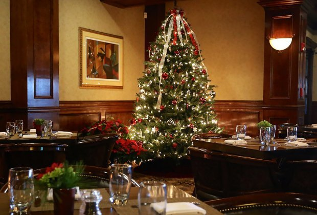 The Crystal Tavern serves a prix-fixe Christmas meal in an elegant holiday atmosphere.
