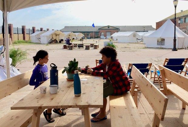 Camp Rockaway fuses beach camping heritage with modern amenities.