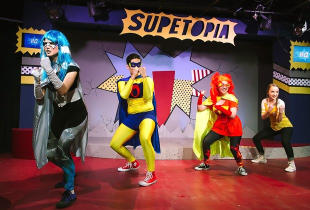 See Super! The Musical at the FringeJR Festival. Photo courtesy of the Maryland Ensemble Theater
