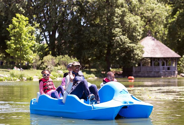 Rent a boat at the LeFrak Center in Prospect Park. Photo courtesy of the Prospect Park Alliance
