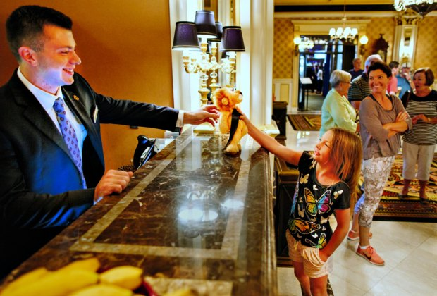 The Lenox Hotel's welcome gift will bring a smile upon check-in!